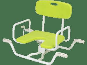 Banco de banheira giratório verde claro