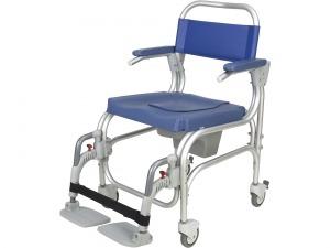 Cadeira de banho e sanitária Atlantic 4 rodízios azul