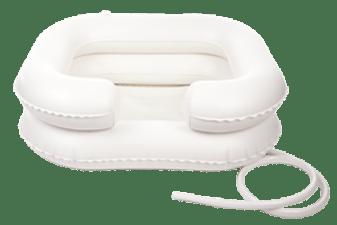 Lava cabeça insuflável de cor branca