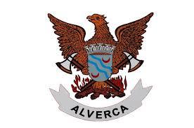 Logótipo dos Bombeiros Voluntários de Alverca. Predominância da cor castanha