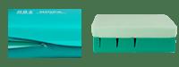Dois planos sobre um colchão de tons verdes