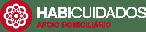 """Logótipo da instituição """"Habicuidados Apoio Domiciliário"""". Cores vermelha e cinzenta"""